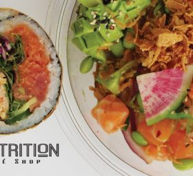 Sushi Burrito, Ahi Poke bowl and wrap